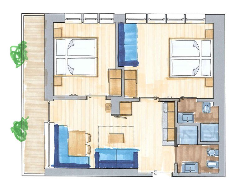 Three Room Apartment three rooms apartments - christophorus mountain residence - san
